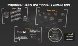"""Interpretación de la norma penal: """"feminicidio"""" y violencia"""