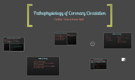 Pathophysiology of Coronary Circulation