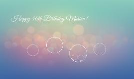Happy 50th Birthday Marion!