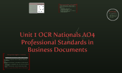 Professional Standards in Business Documents