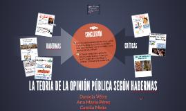 LA TEORÍA DE LA OPINIÓN PÚBLICA SEGÚN HABERMAS