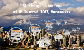 10 Things I Learned at IA Summit 2017, Vancouver