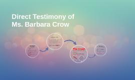 Direct Testimony of
