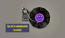 EJES DE LA COMUNICACIÓN NO VERBAL