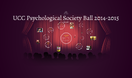 UCC Psychological Society Ball 2014-2015