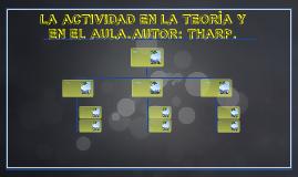 LA ACTIVIDAD EN LA TEORÌA Y EN EL AULA.AUTOR: THARP.