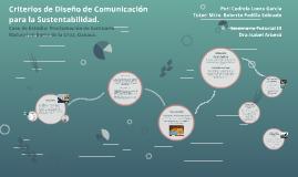Criterios de Diseño de Comunicación para la Sustentabilidad.