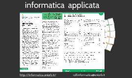 Informatica Applicata: I nuovi curricula interdisciplinari
