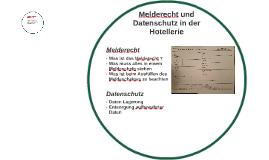 Melderecht und Datenschutz in der Hotellerie