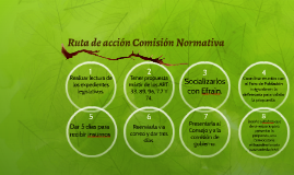 Ruta de acción Comisión Normativa