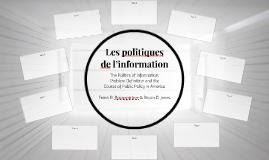 Les politiques de l'information