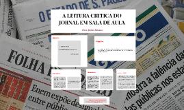 A LEITURA CRITICA DO JORNAL EM SALA DE AULA