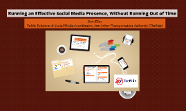 Running an Effective Social Media Presence, Without Running Out of Time
