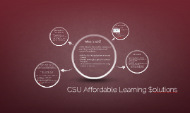 Affordable Learning $olutions
