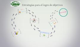 Copy of Estrategias para el logro de objetivos