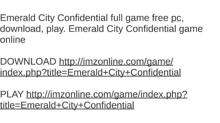 emerald city game free download