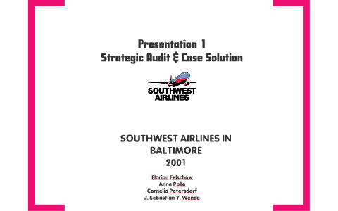 southwest airlines harvard case study solution
