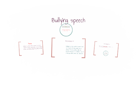 a speech about bullying