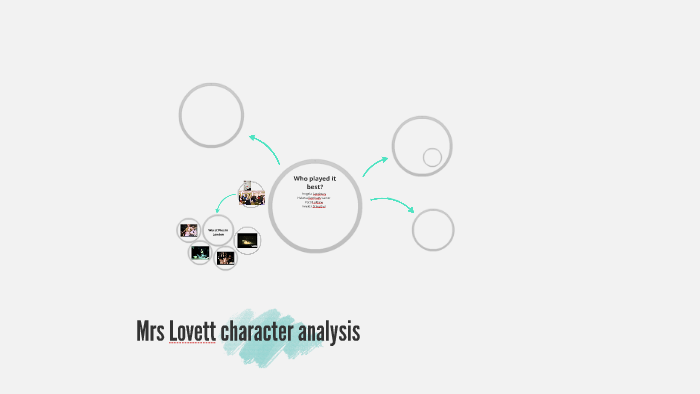 mrs lovett character analysis