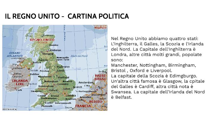 Cartina Politica Dell Irlanda.Regno Unito Cartina Politica By Tommaso Tasca