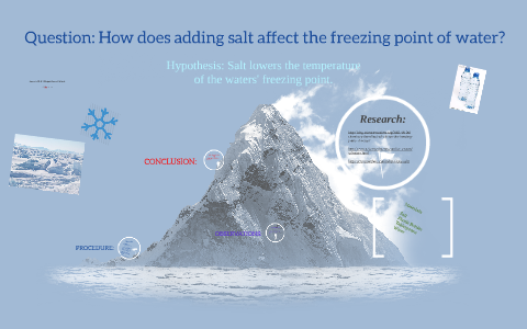 does adding salt to water lower its freezing point science project