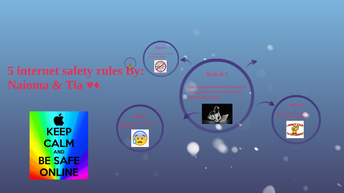 5 Internet Safety Rules By Tia Lopes De Sa