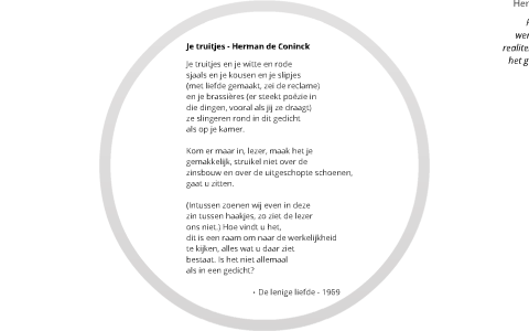 Poëzieproject Je Truitjes Herman De Coninck By Dries