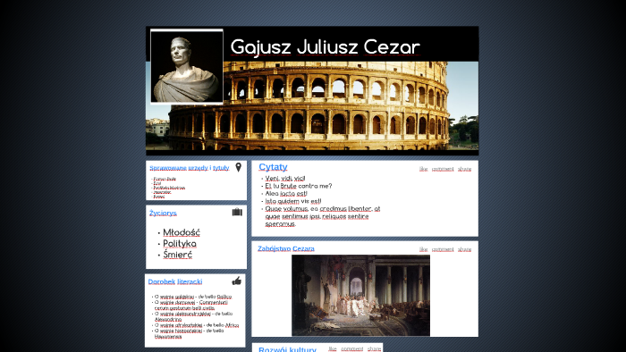 Gajusz Juliusz Cezar By Weronika Efczyńska On Prezi