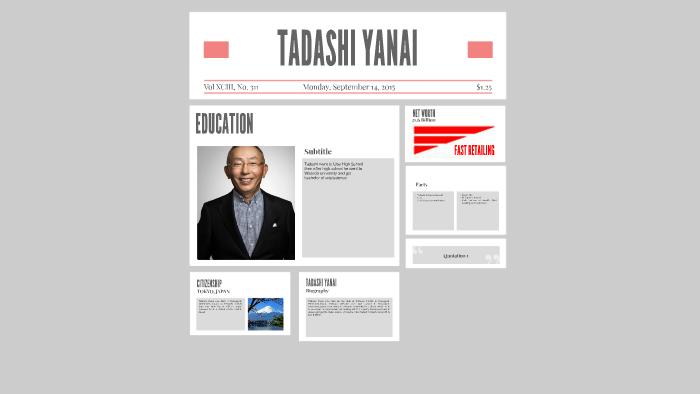 TADASHI YANAI by samantha ocampo on Prezi