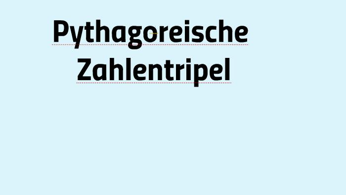 pythagoreisches tripel