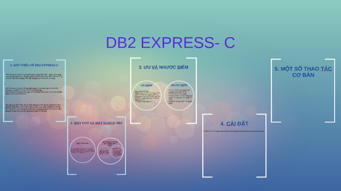 DB2 EXPRESS- C by Phươngg Phươngg on Prezi