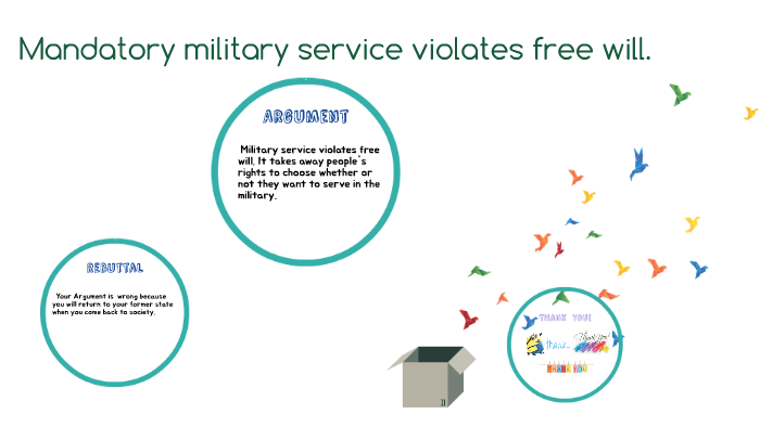 cons of mandatory military service
