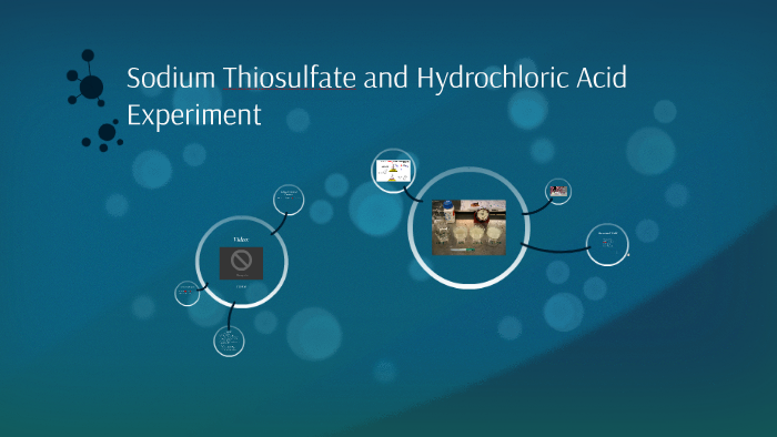 sodium thiosulfate and hydrochloric acid method