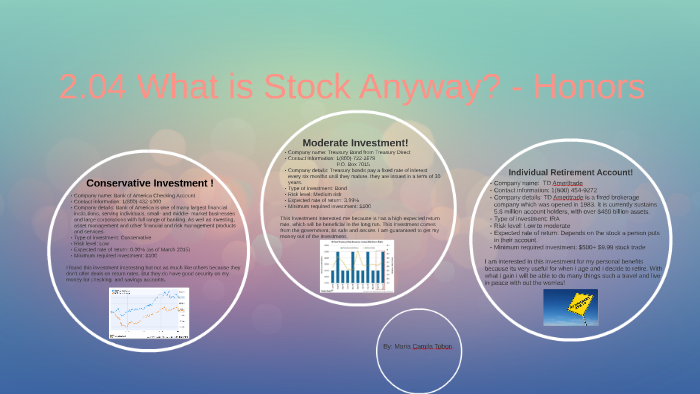 2 04 What is Stock Anyway? - Honors by Camila Tobon on Prezi