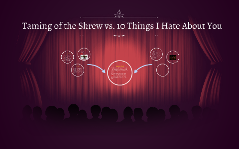 similarities between taming of the shrew and 10 things