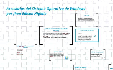 Accesorios Del Sistema Operativo De Windows By Jhon Edinson Higidio Alpala