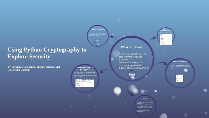 Using Python Cryptography to Explore Security by Oluwakemi Olatunji