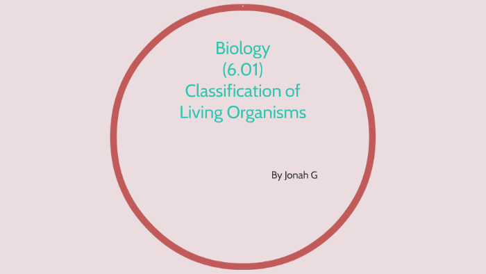 Biology 6 01: Classification of Living Organisms by Jonah