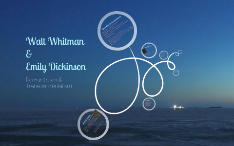 compare and contrast walt whitman and emily dickinson