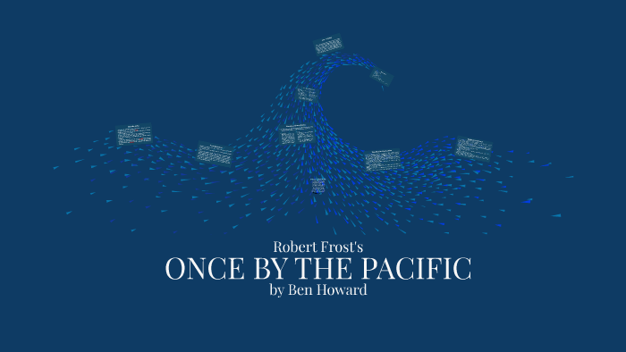 robert frost once by the pacific