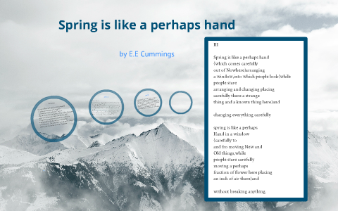 Spring Is Like A Perhaps Hand By Chloe Farrant On Prezi