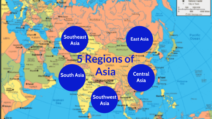 Map Of Asia With 5 Regions.Asia By Perry Jayden On Prezi Next