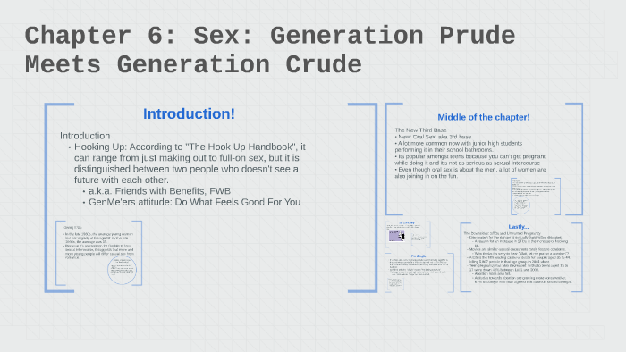 Chapter 6: Sex: Generation Prude Meets Generation Crude by