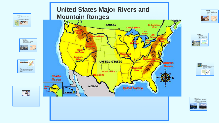 United States Major Rivers and Mountain Ranges by Wendyq ...