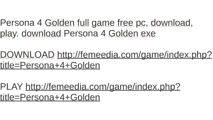 download persona 4 golden pc