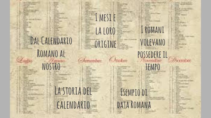 Il Calendario Romano.Il Calendario Romano By Maia Andreotti On Prezi Next
