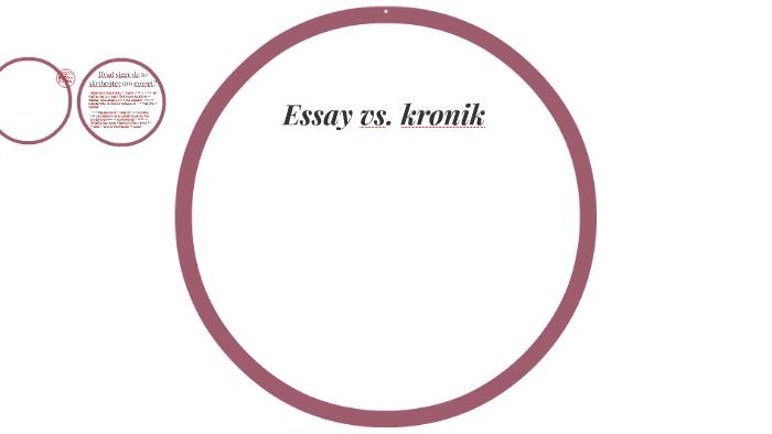 forskel på essay og kronik
