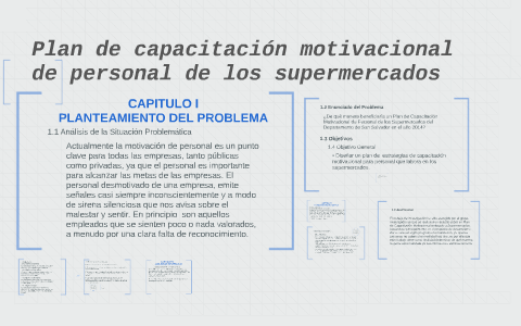 Plan De Capacitación Motivacional De Personal De Los Superme