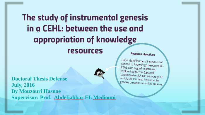 The study of instrumental genesis in a CEHL: between the use by