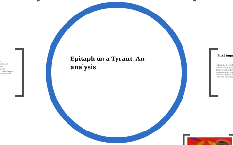 epitaph on a tyrant